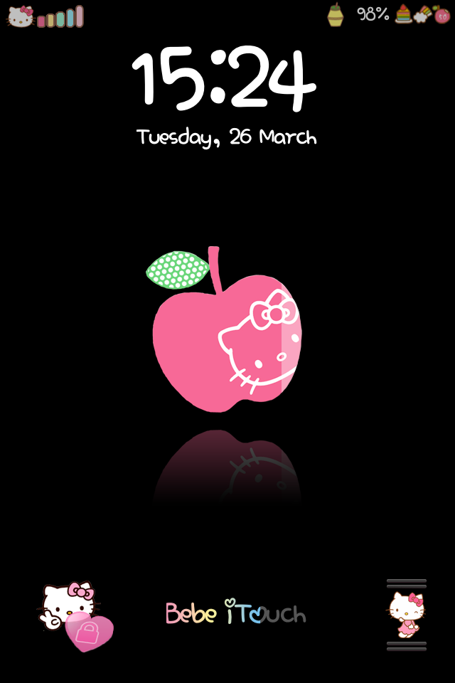 how to change slide to unlock text cute bebe kitty