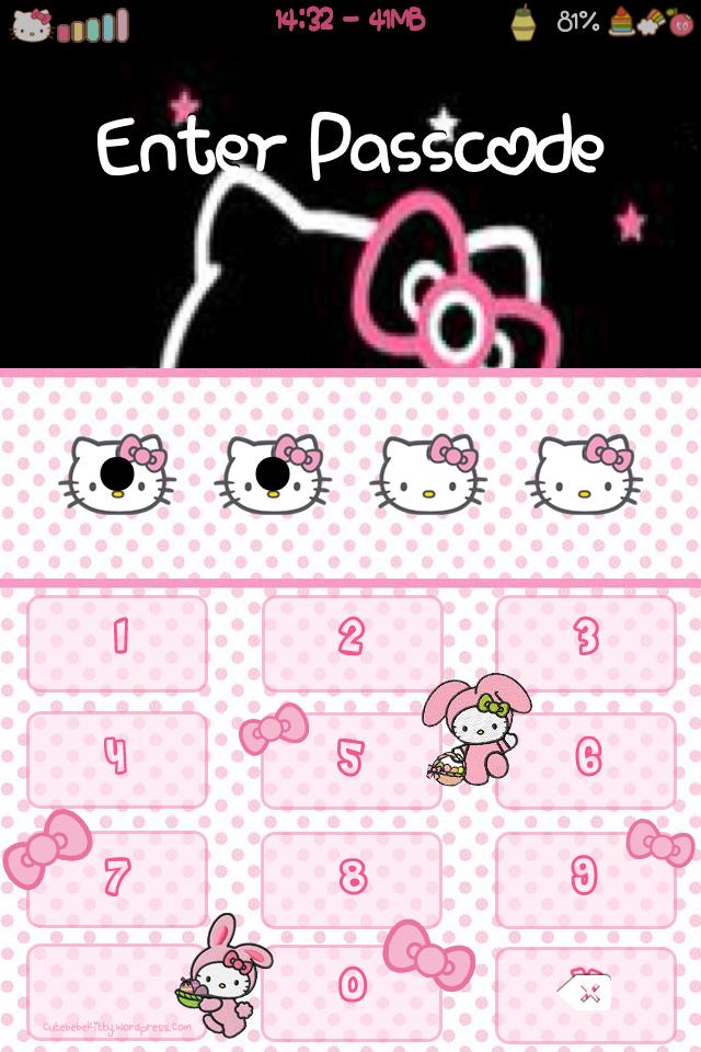 Hello Kitty Easter Bunny Keyboard Theme Cute Bebe Kitty