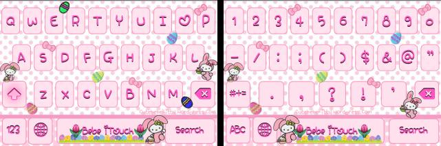 Hello Kitty Easter Bunny Keyboard Theme