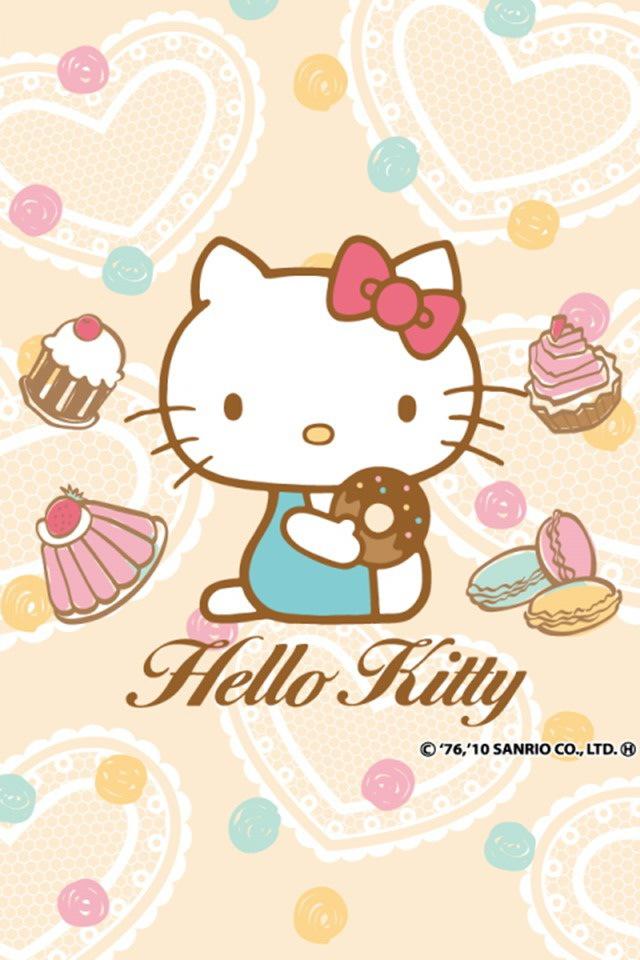 Hello Kitty Eat Cakes Theme Cute Bebe Kitty