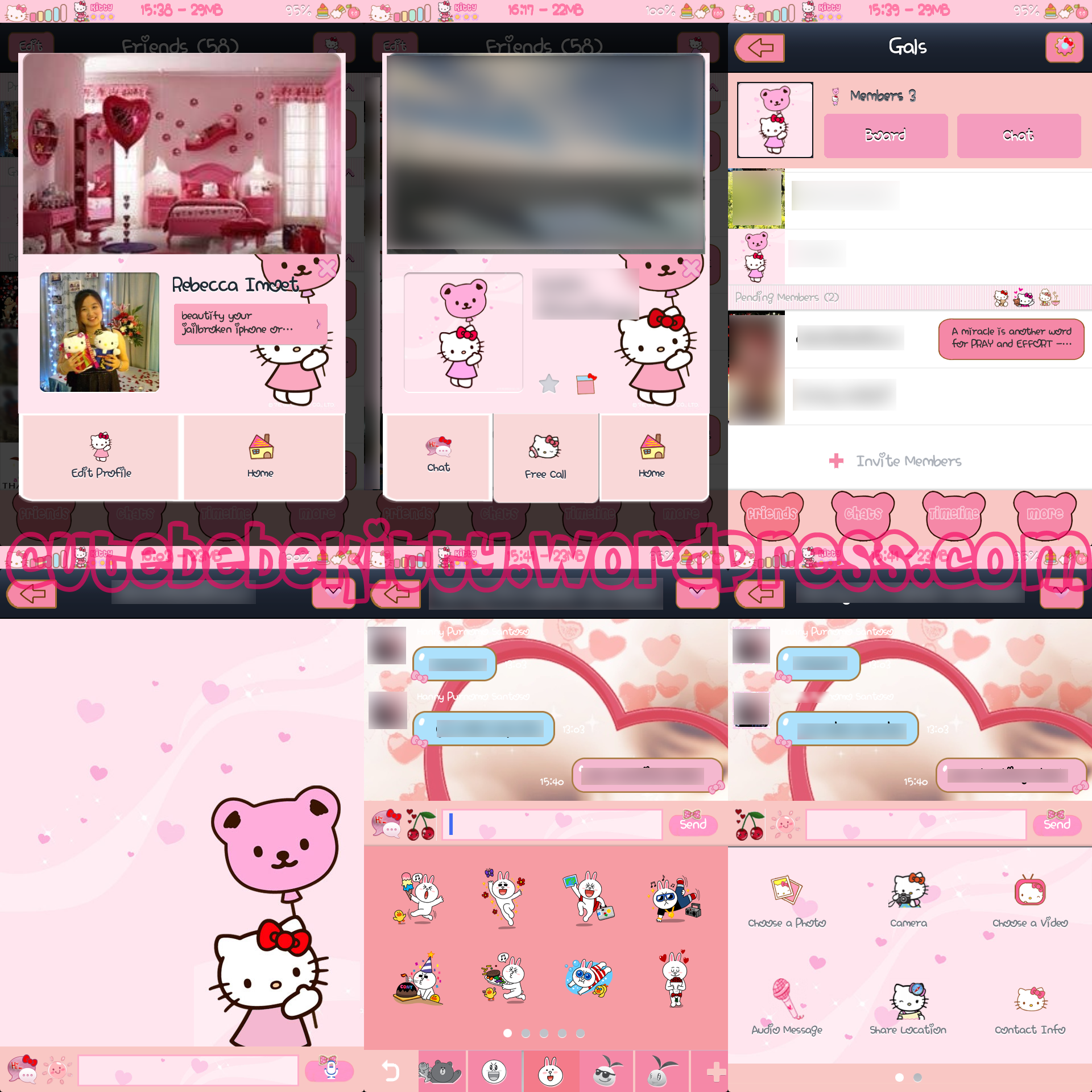 iphone message theme hello kitty line theme bebe kitty 12033