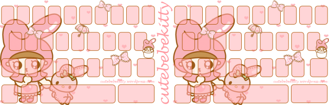 My Melody Bebe Color Keyboard Theme