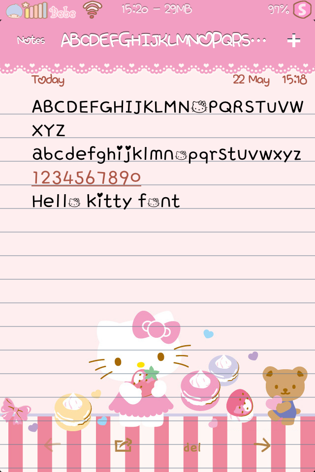 Hello kitty font cute bebe kitty Cute font generator free