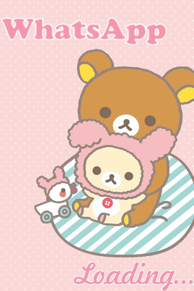Rillakuma Bear Whatsapp Theme Cute Bebe Kitty
