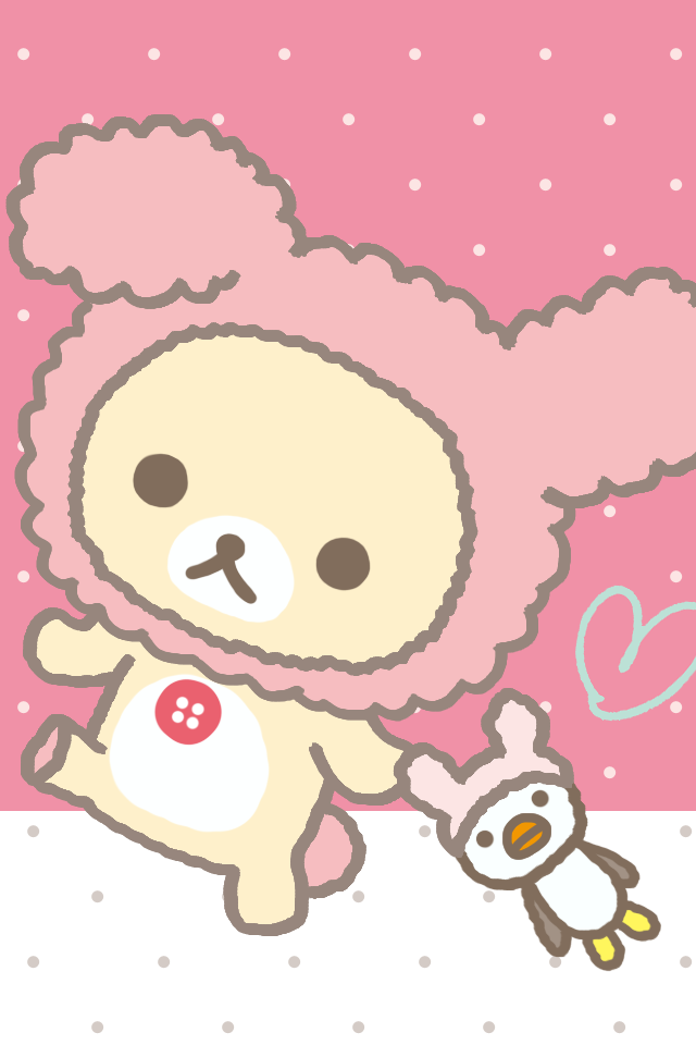 Love chat Background Wallpaper : Rillakuma Bear Whatsapp Theme cute Bebe Kitty